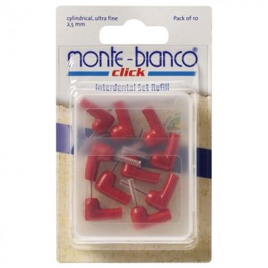 Têtes de rechange cylindriques rouges pour kit interdentaire