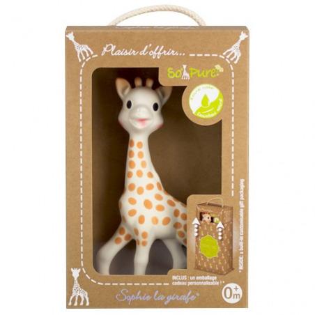 Sophie la girafe So'Pure avec emballage cadeau personnalisable