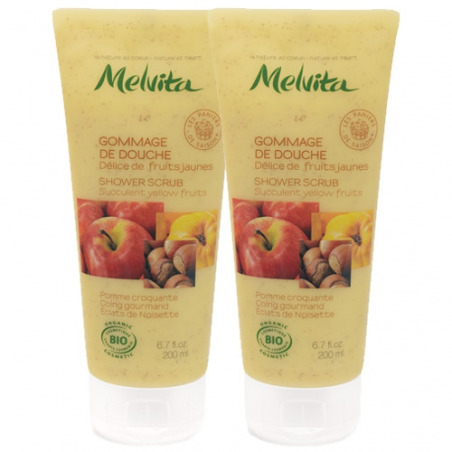 Duo Gommage de douche Fruits Jaunes